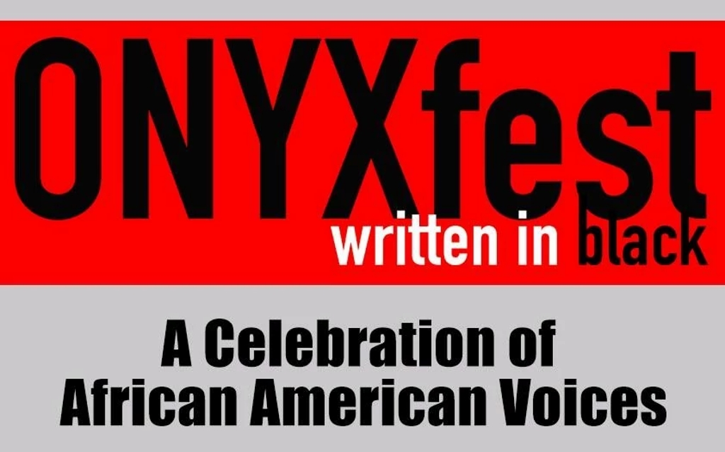 OnyxFest written in black. A Celebration of African American Voices.