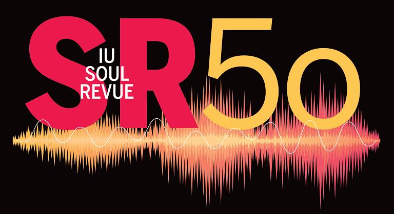The IU Soul Revue 50th anniversary logo
