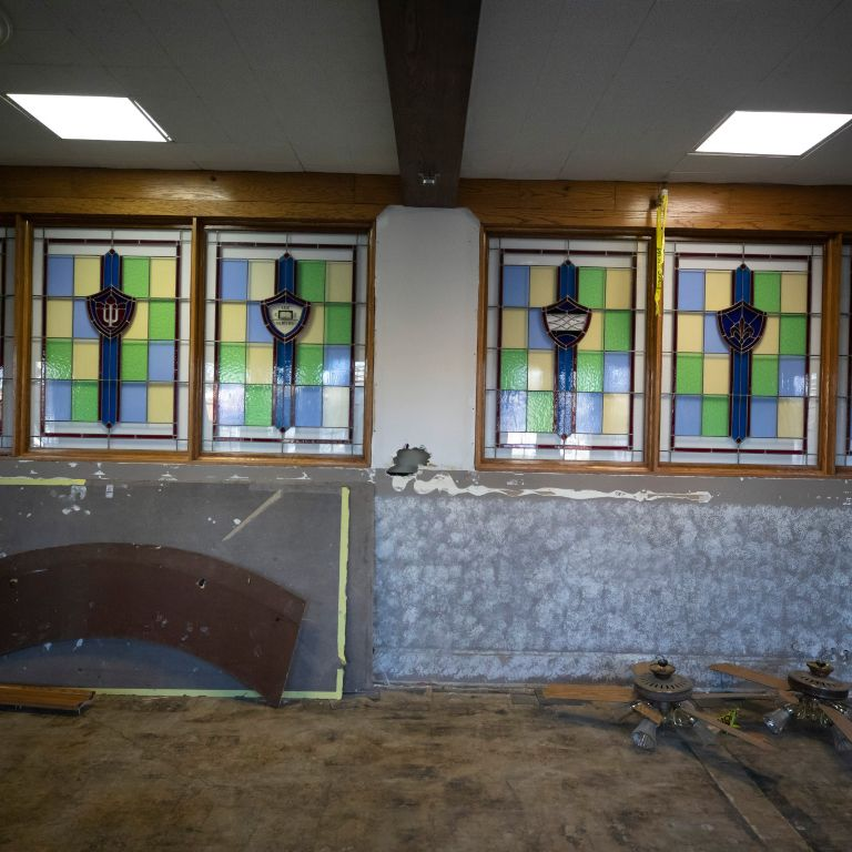 Work for the Indiana Memorial Union dining renovation project.