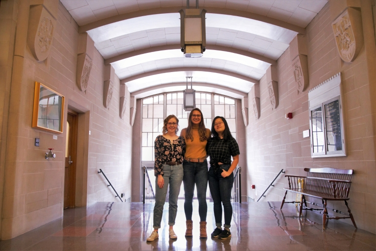 From left, IU Bloomington students Alex Butrum-Griffith, Maya Patheja and Anna Hsiao.