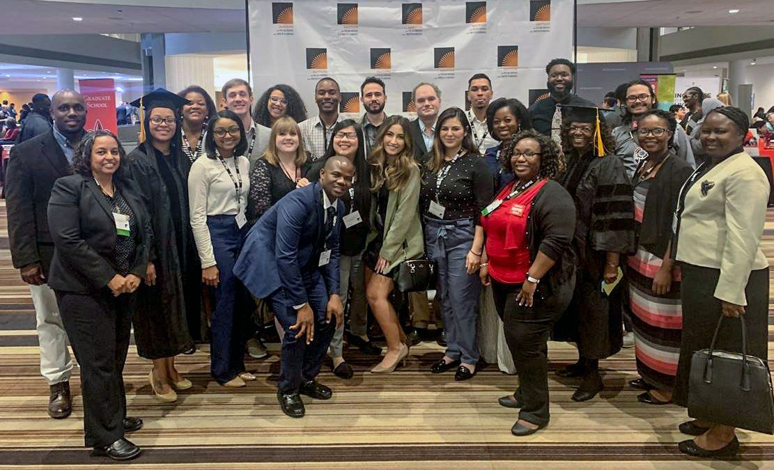A group of IUPUI doctoral students attended the Institute on Teaching and Mentoring