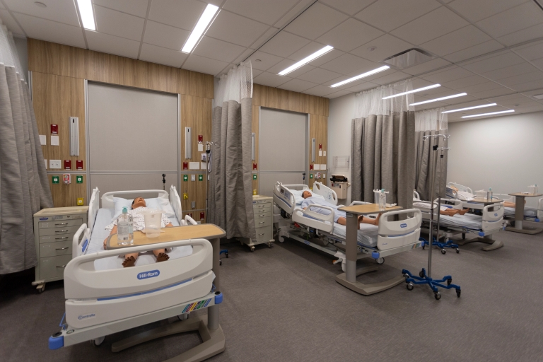 Training space in the IU Bloomington Health Sciences Building