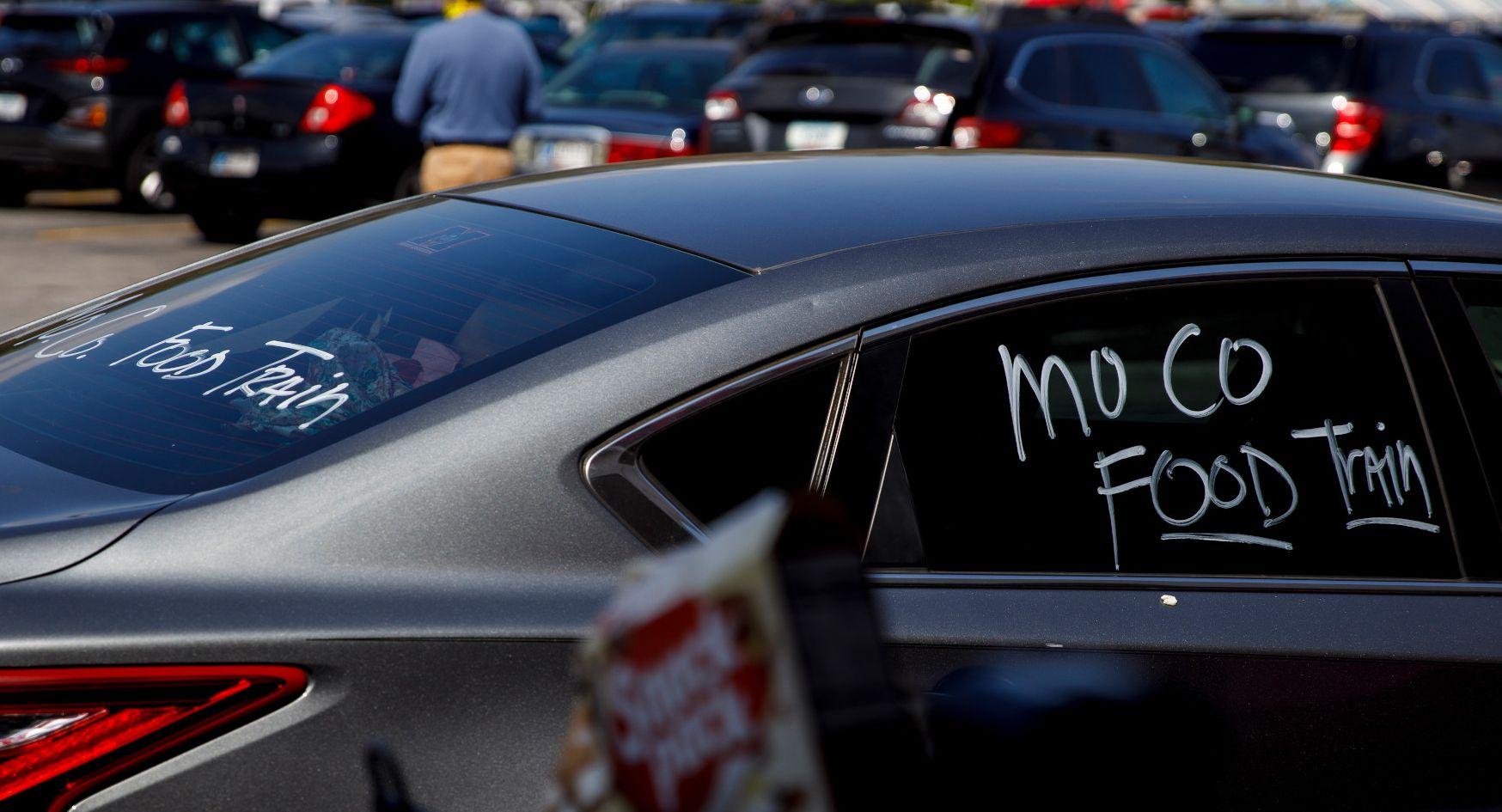 Mo. Co. Food Train is written on a car window