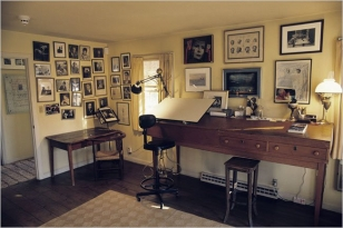 Bernstein's Fairfield, Conn., composing studio