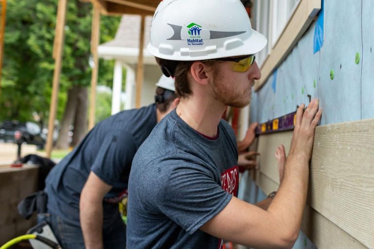 Students build Habitat for Humanity Home