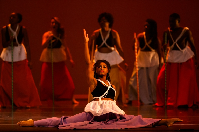 Members of the African American Dance Company perform during Potpourri of the Arts.