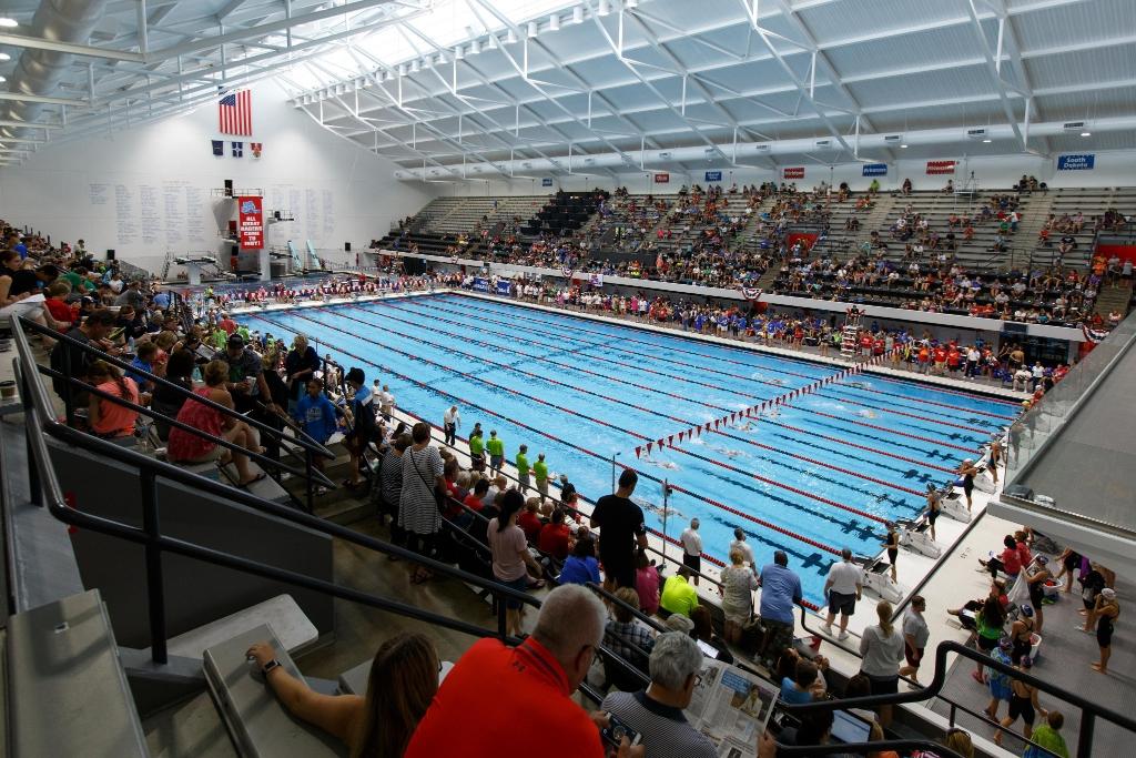 swimmers at IU Natatorium