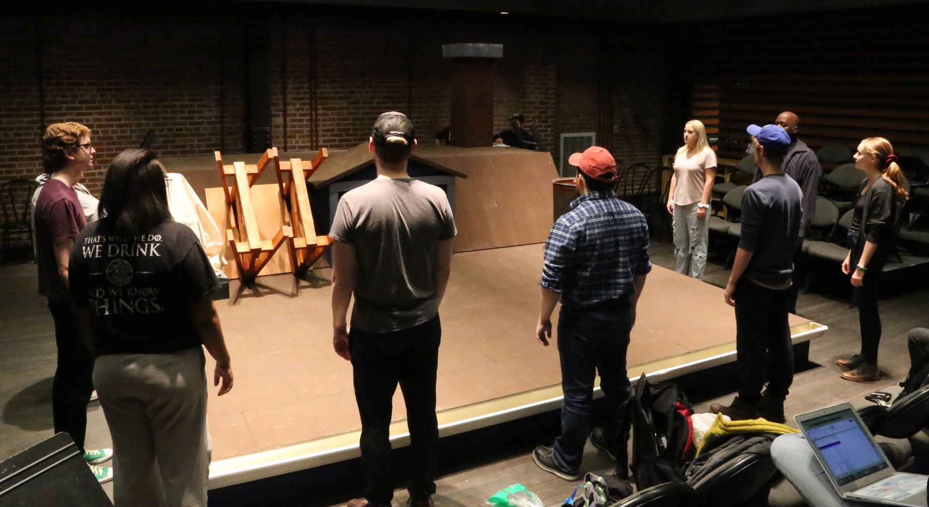 The cast of 'Ascendant' rehearses before the January 22 opening.
