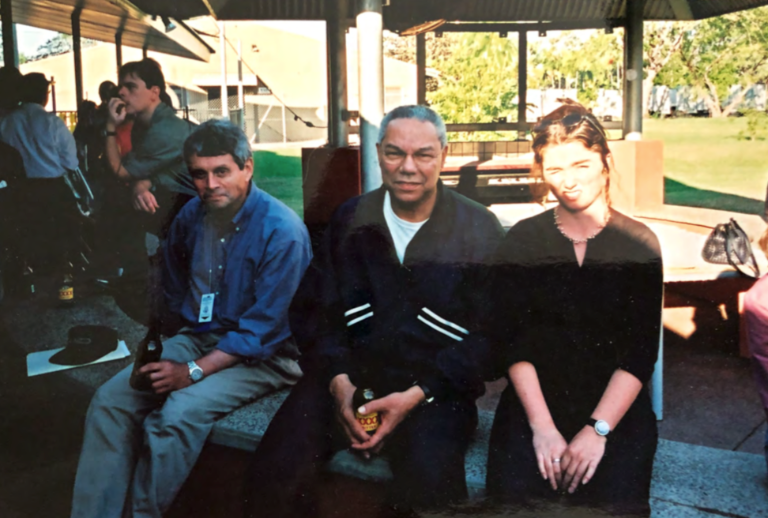 Elaine Monaghan with Colin Powell