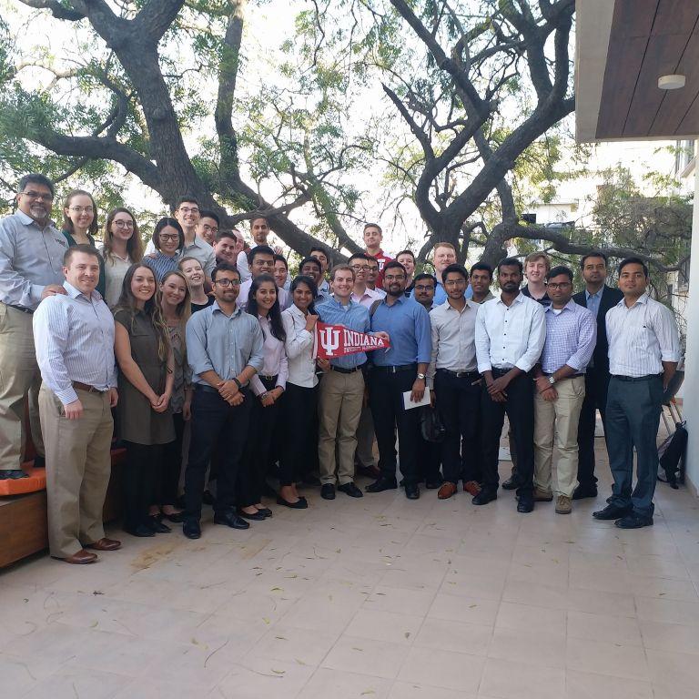 Kelley students at the IU India Gateway