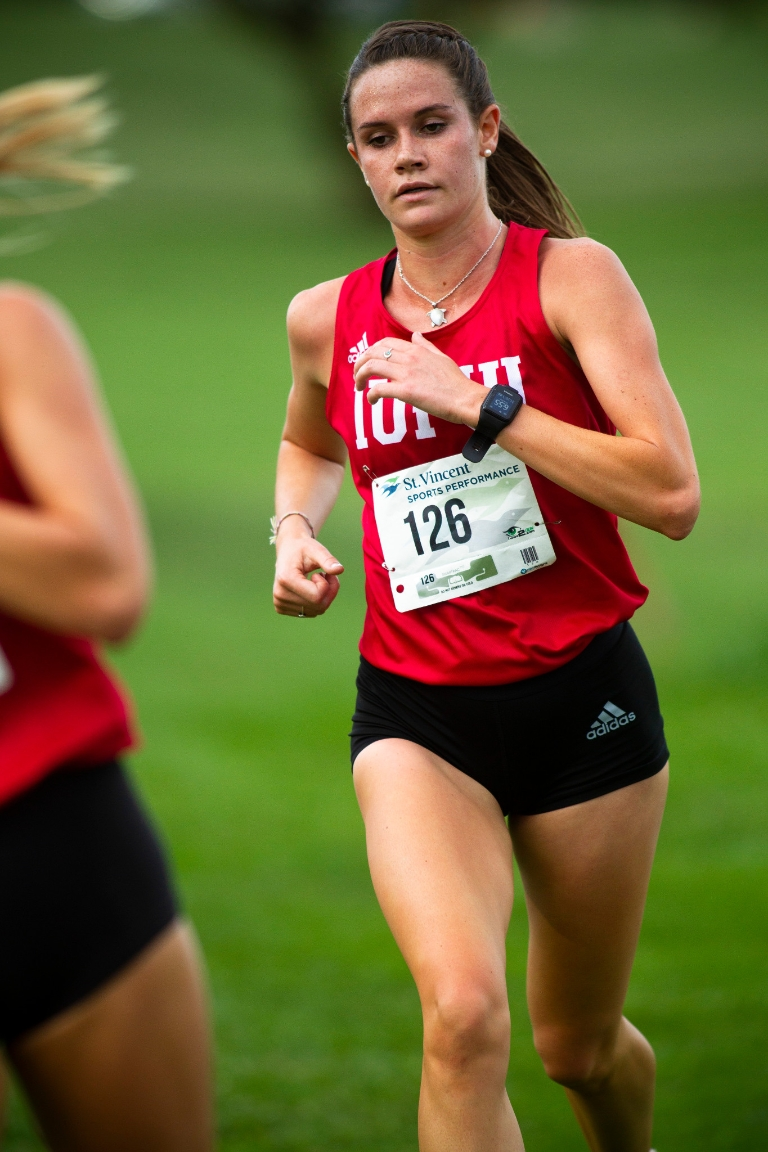 Katelyn Murphy running in a race.