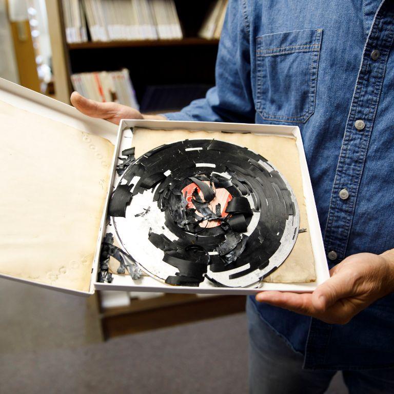 A deteriorating vinyl record
