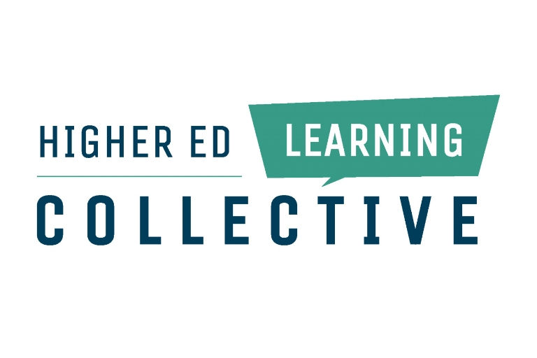 The green and blue logo for the High Ed Learning Collective website