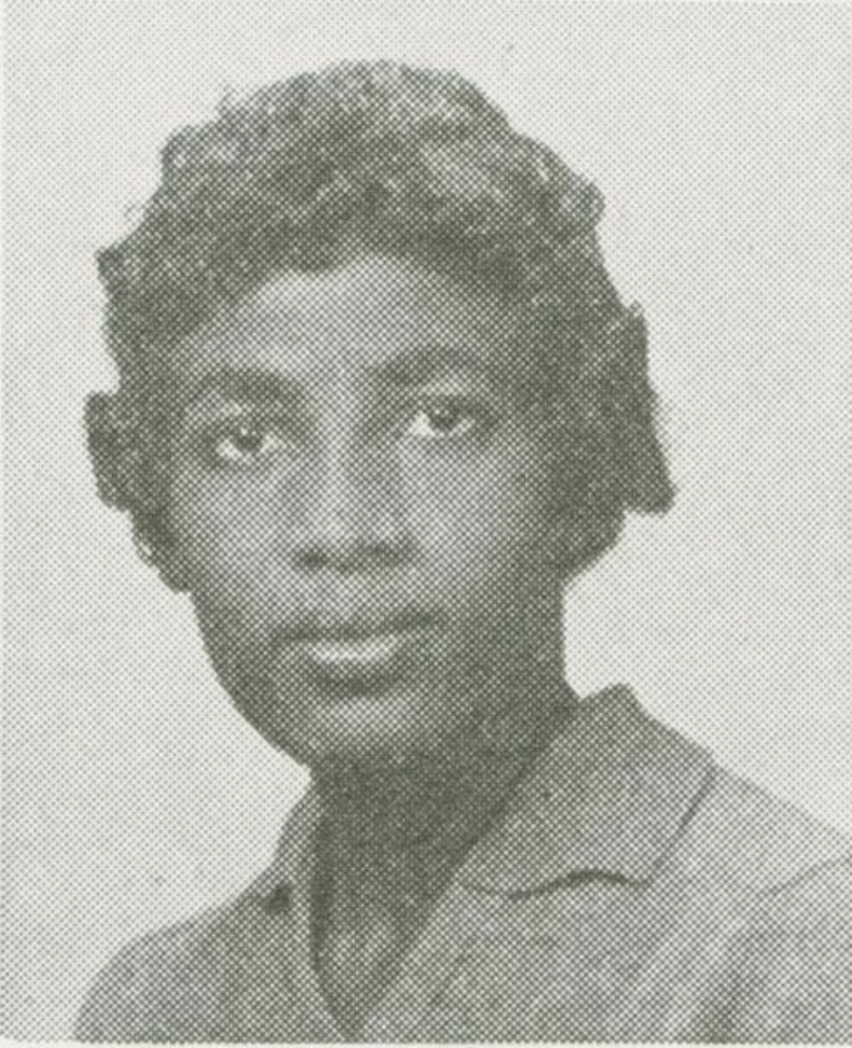 Gloria Dean Randle Scott, from the 1959 Arbutus yearbook