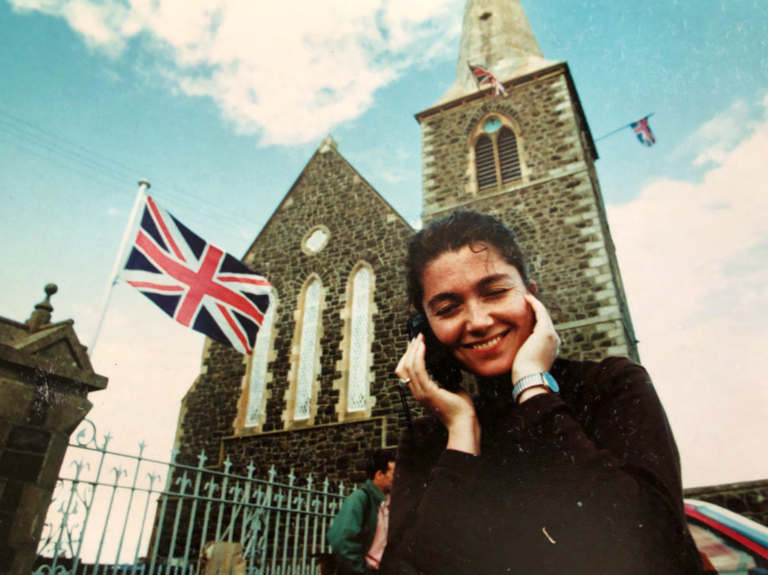 Elaine Monaghan in Northern Ireland in 1990s