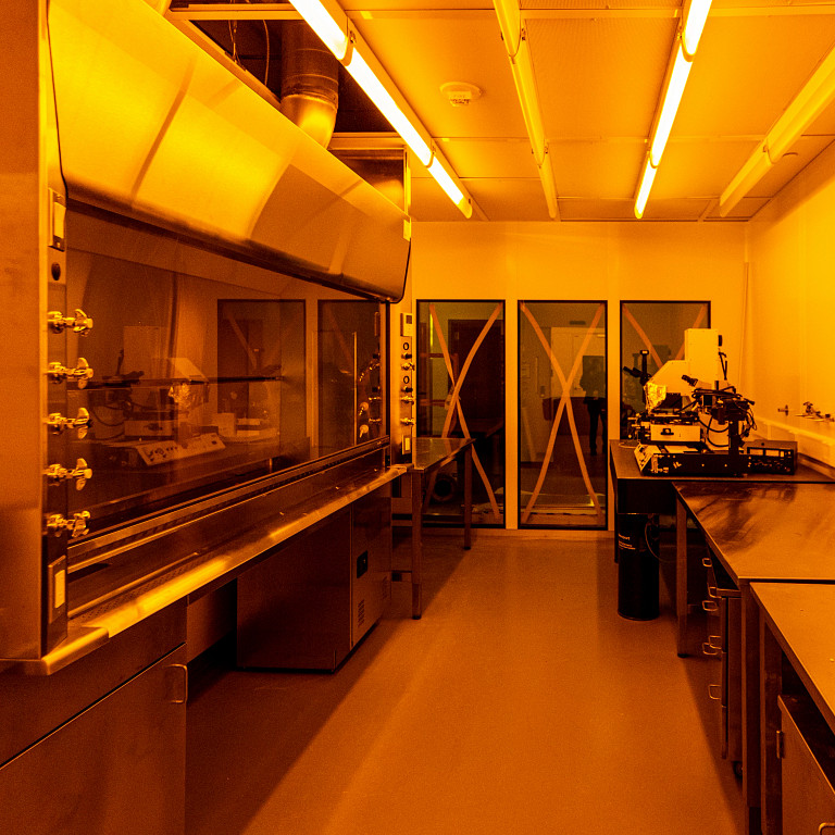 special lighting in a clean room inside Innovation Hall