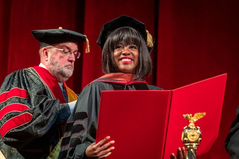 Viola Davis receiving an honorary doctorate