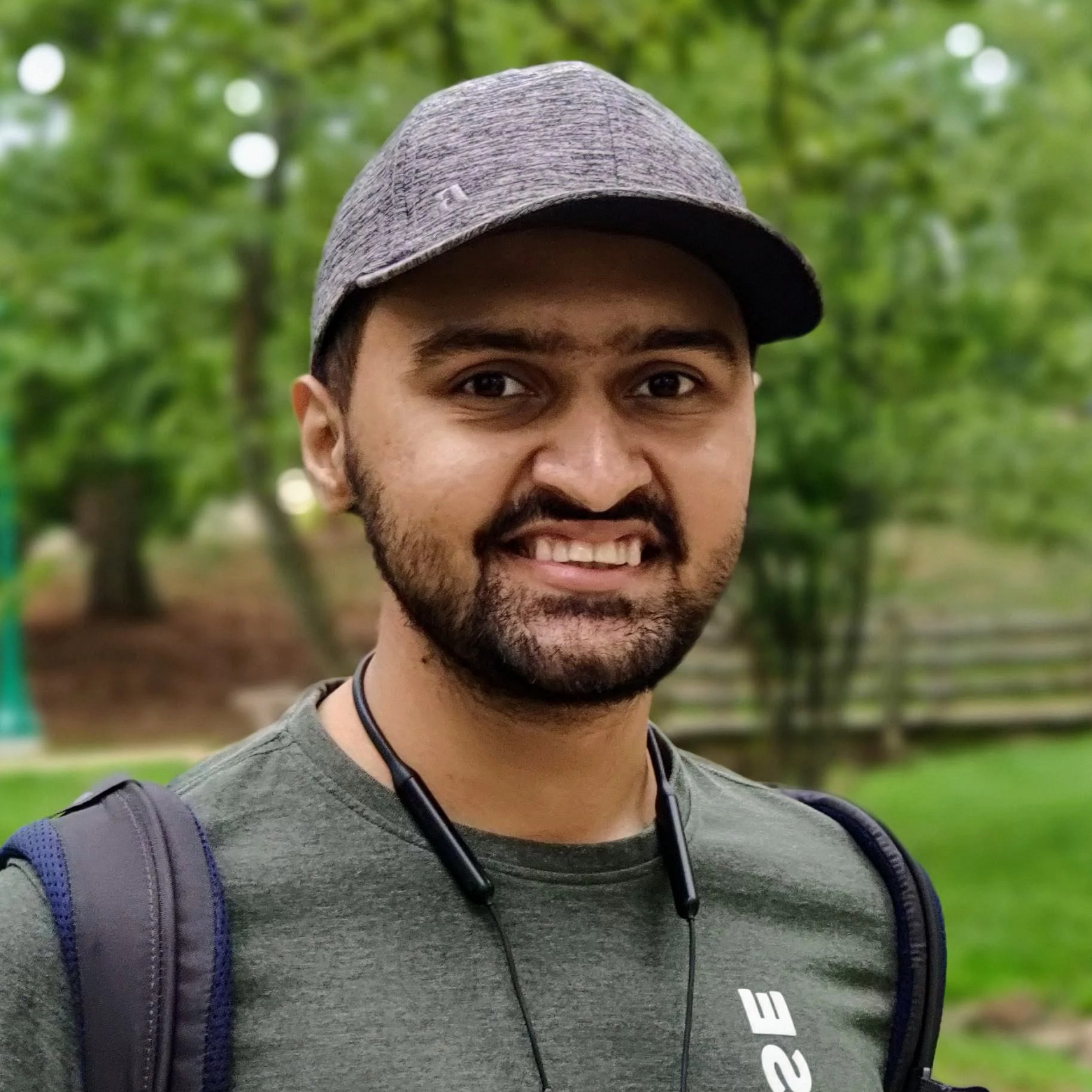 Sagar Vasnani stands outside on the IU Bloomington campus