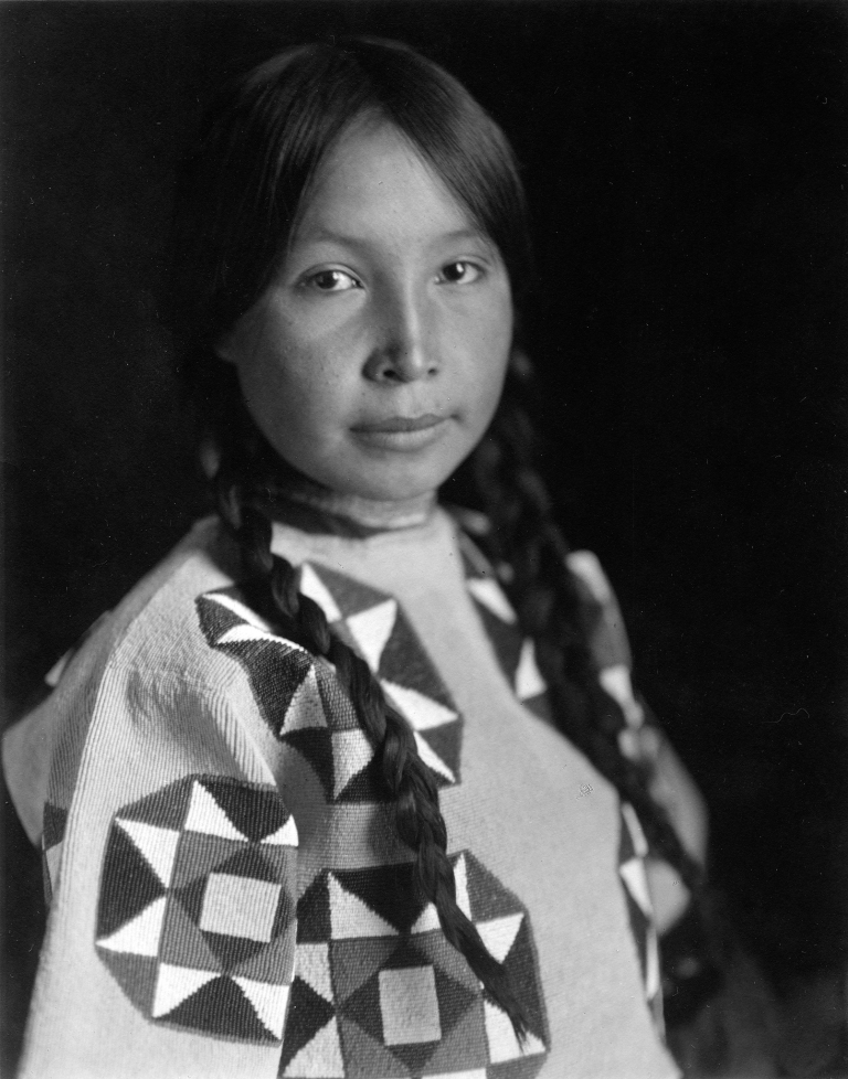 An Assiniboine girl from 1913